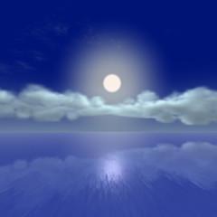 Mond über dem Eismeer