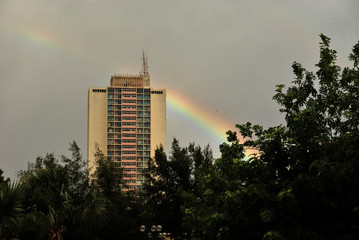 Regenbogen in Havanna