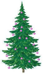 Christmas tree with glass balls