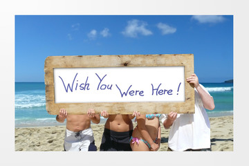 Beach Vacation Advertising Scene