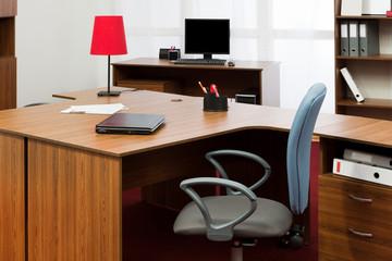 desk at modern office