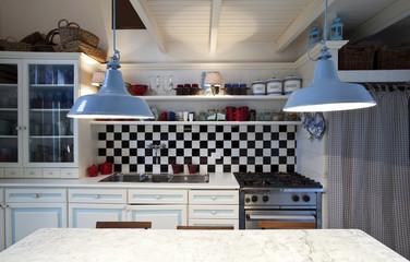 interno di bella vecchia cucina stile liberty - Buy this stock photo ...