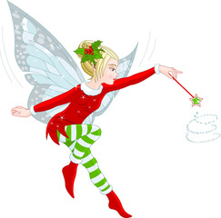 Canvas Prints Fairytale World Christmas fairy