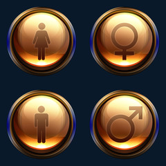 Male female gender icon pack