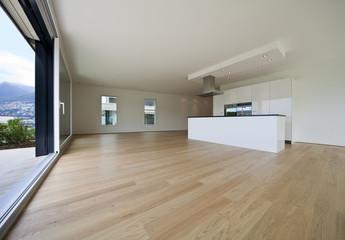 Obraz interno di loft moderno e vuoto - fototapety do salonu