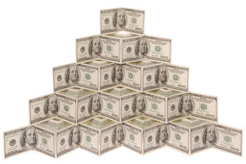 pyramid made of dollar
