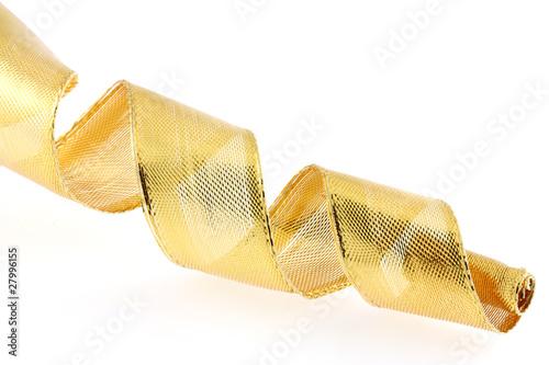 spirale ruban dor emballage paquet cadeau photo libre de droits sur la banque d 39 images. Black Bedroom Furniture Sets. Home Design Ideas