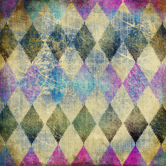 retro denim background with rhombus patterns