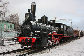 Old locomotive. Model О841. It is made in 1903.