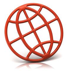 orange globe icon