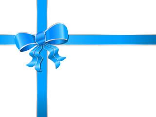 Geschnenkband blau-silber