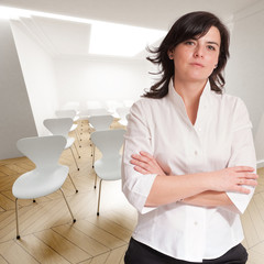 Professional woman in conference room