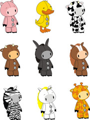 animal cartoon set pack1