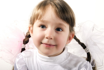 Photo of a cute little girl smiling