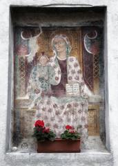 Virgin Mary fresco painting