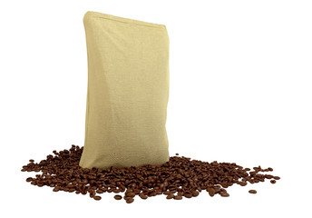 Sacking Package on coffee beans