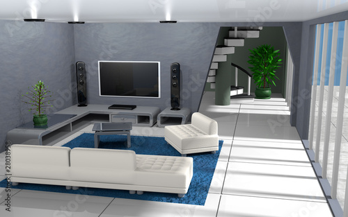"modernes appartement interieur, intérieur d'appartement moderne"" stock photo and royalty-free images, Design ideen"