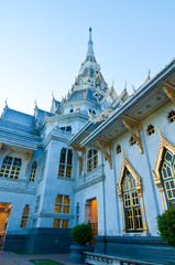 Sothorn temple in evening light at Chachoengsao province