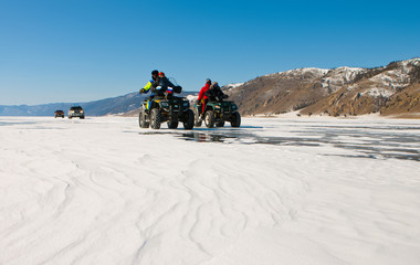 Travel across winter Baikal