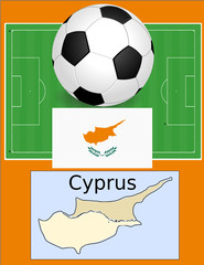 Cyprus soccer football world flag map