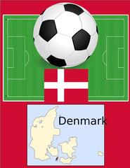 Denmark soccer football world flag map