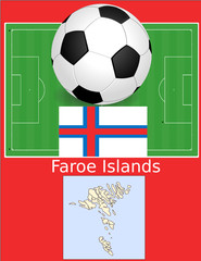 Faroe islands soccer football world flag map