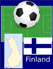 Finland soccer football world flag map
