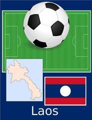 Laos soccer football world flag map