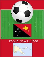 Papua new guinea soccer football world flag map