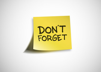 Post It - Don't forget