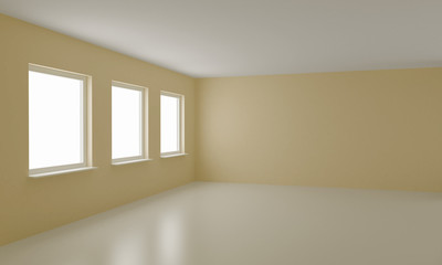 Empty room, clean office or residential interior