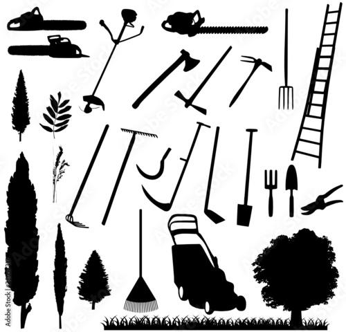 Mat riel jardinage fichier vectoriel libre de droits sur for Materiel de jardinage wolf