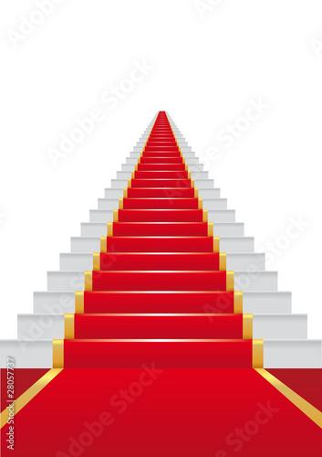 Escalier Tapis Rouge Cinema Reussite Succes Gloire Star