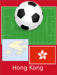 Hong Kong soccer football sport world flag map