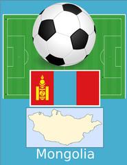 Mongolia soccer football sport world flag map