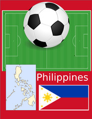 Philippines soccer football sport world flag map