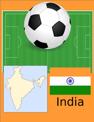 India soccer football sport world flag map