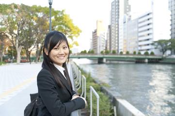 a portrait of asian business woman