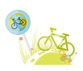 Sign. bicycle path A