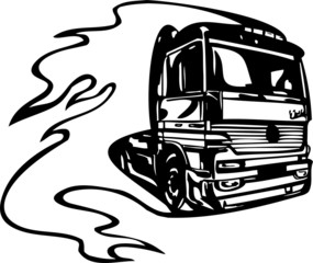 Racing Trucks with inclusion of a flames and tribals.