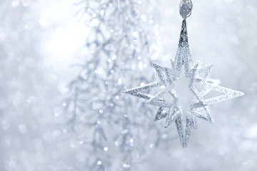 Christmas Decor silver bright