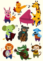cartoon music animal icon