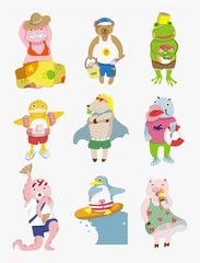 cartoon animal summer