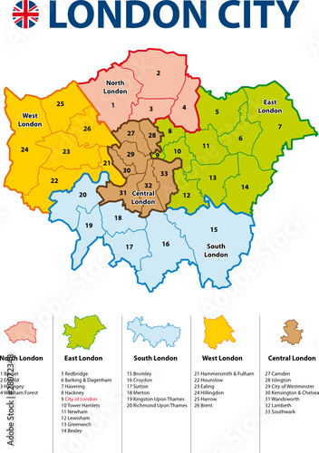 LONDON CITY MAP   Carte de Londres