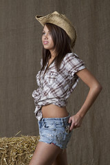 Cowgirl and her gun
