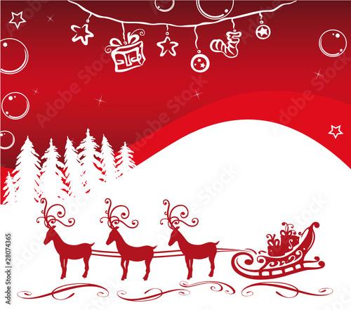 weihnachten hintergrund rentiere rot wei stockfotos. Black Bedroom Furniture Sets. Home Design Ideas
