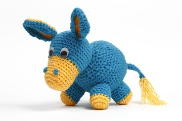 Knitting toy burro