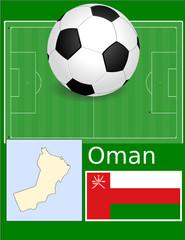 Oman soccer football sport world flag map