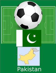 Pakistan soccer football sport world flag map