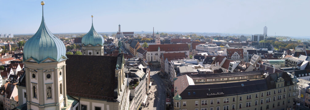 Augsburg City mit St. Peter Panorama